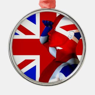 Union Jack Man Christmas Ornament