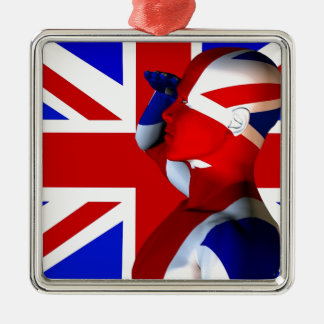 Union Jack Man Christmas Ornament