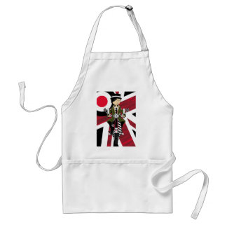 Union Jack Mod Girl on Scooter Standard Apron