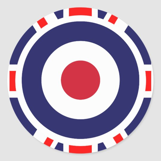 Union Jack Mods England Target Classic Round Sticker