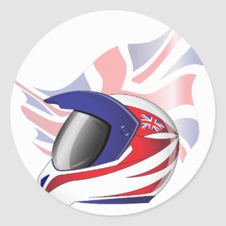 Union Jack Motorcycle Helmet Stickers