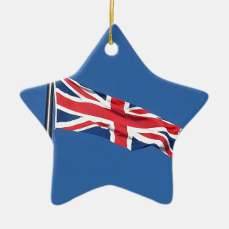 Union Jack National Flag United Kingdom Christmas Ornament