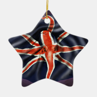 Union Jack Octopus Christmas Ornament