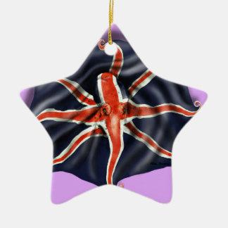 Union Jack Octopus Light Ceramic Star Decoration
