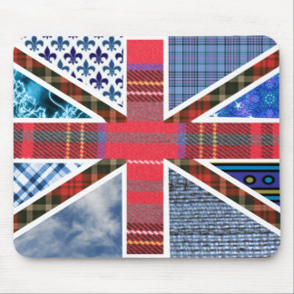 Union Jack Patchwork Pattern Mouse Mat