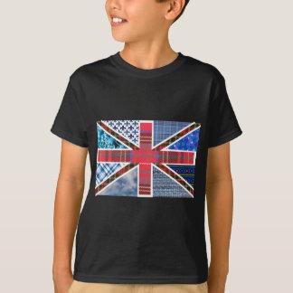 Union Jack Patchwork Pattern T-Shirt
