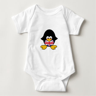 Union Jack Penguin Baby Bodysuit