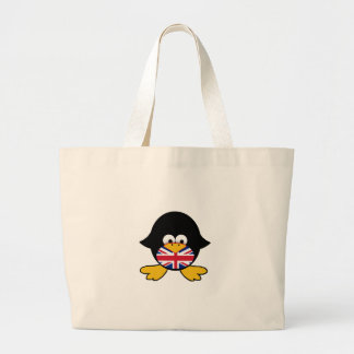 Union Jack Penguin Large Tote Bag