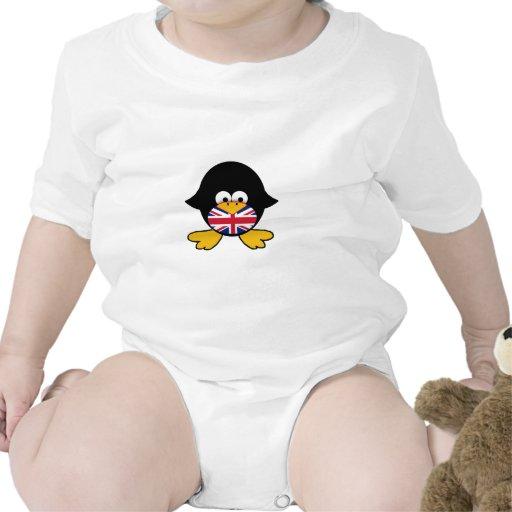 Union Jack Penguin Baby Creeper