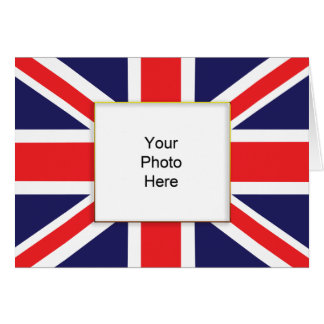 Union Jack Photo Birthday Card