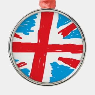 Union Jack pic.gif Silver-Colored Round Decoration