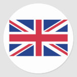 Union Jack Products and T shirts Round Stickers