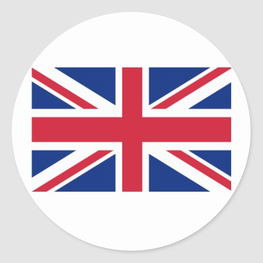 Union Jack Products and T shirts Round Sticker