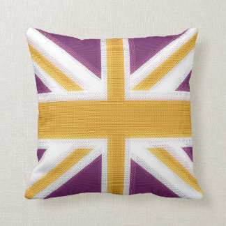 Union Jack Purple Cushion