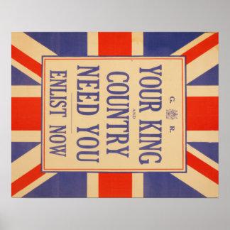 Union Jack Recruit poster