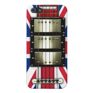 Union Jack Retro Electric Guitar #1A iPhone 5 Cover