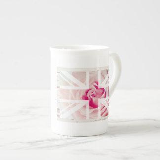 Union Jack Rose Bone China Mug
