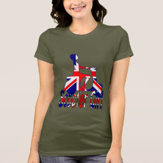 Union Jack scooter girl T-Shirt