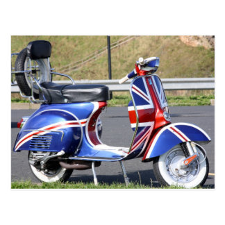 Union Jack Scooter Postcard