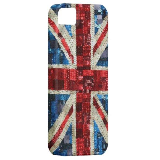 Union Jack sequin bling UK English flag iPhone