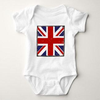 Union Jack Shabby Chic Baby Bodysuit