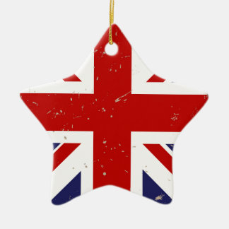 Union Jack Shabby Chic Christmas Ornament