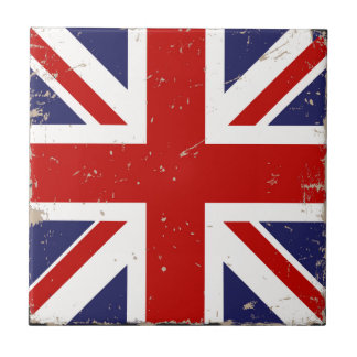 Union Jack Shabby Chic Small Square Tile