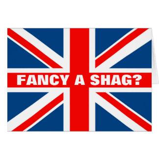 Union Jack shag Greeting Card