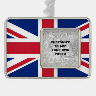 Union Jack Silver Plated Framed Ornament