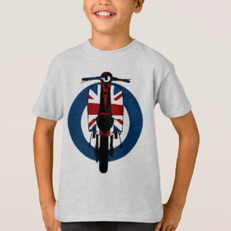 Union jack sixties scooter art 2 T-Shirt