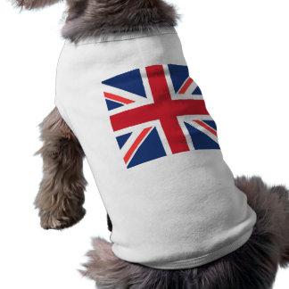 Union jack sleeveless dog shirt