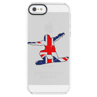 Union Jack SNOWBOARDER (blk) Clear iPhone SE/5/5s Case