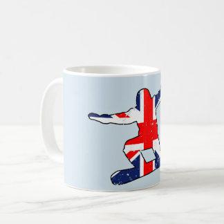 Union Jack SNOWBOARDER (blk) Coffee Mug