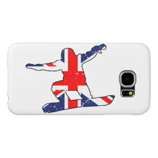 Union Jack SNOWBOARDER (blk) Samsung Galaxy S6 Cases