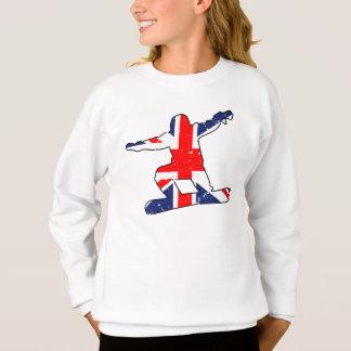 Union Jack SNOWBOARDER (blk) Sweatshirt