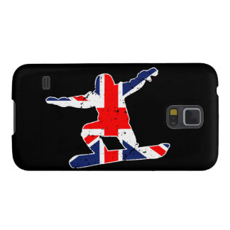 Union Jack SNOWBOARDER (wht) Case For Galaxy S5