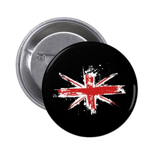 Union Jack Splatter Button