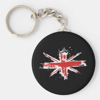 Union Jack Splatter Keychain
