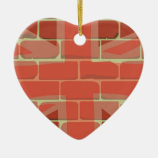 Union Jack Sprayed on a Wall Ceramic Heart Decoration
