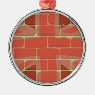 Union Jack Sprayed on a Wall Christmas Ornament