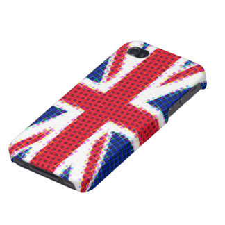 Union Jack Squares iPhone 4/4S Covers