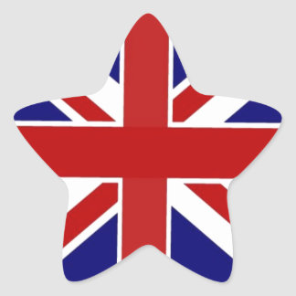 Union Jack Star Sticker