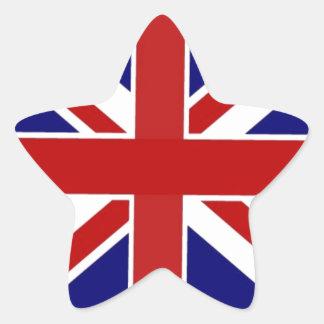 Union Jack Star Sticker