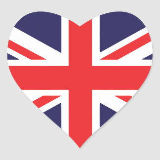 Union Jack Heart Stickers