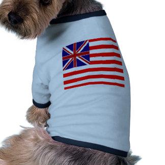 Union Jack Stripes Flag Pet Clothing