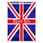 Union Jack Thank You Greeting Card