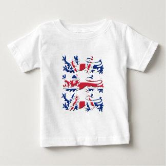 Union Jack Three Lions Baby T-Shirt