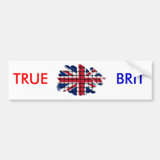 Union Jack TRUE, BRIT Bumper Sticker