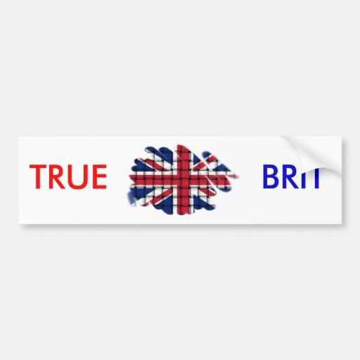 Union Jack TRUE, BRIT Bumper Stickers