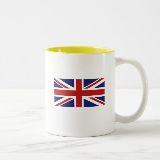 Union Jack Two-Tone Coffee Mug